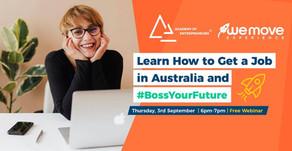 ¿Necesitas consejos para conseguir trabajo en Australia? ¡Atentos a nuestro próximo webinar!