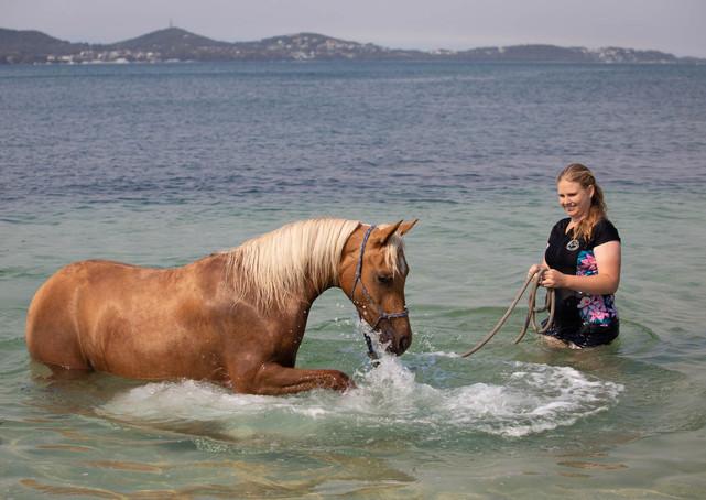 Hope & Emma at the beach, 2020
