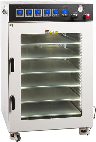 16 CF vacuum oven with 6 shelves