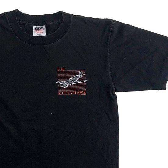 kitty hawk T-shirt  / BLK