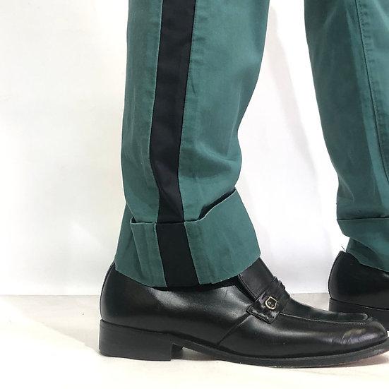 side line design pants / GRN