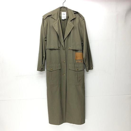 old Together single trench coat / KHAKI