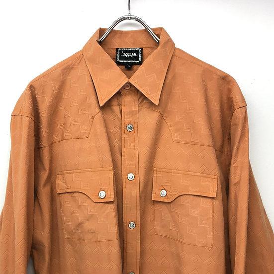 saxifan design western shirt / L.BRN