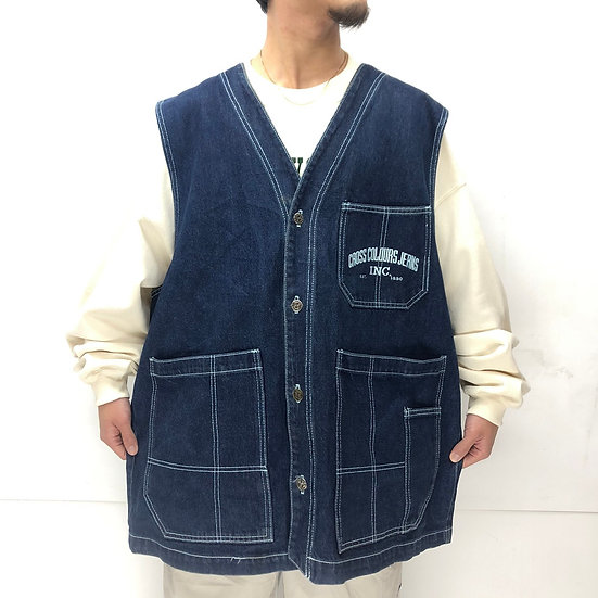 old cross colours denim vest / denim