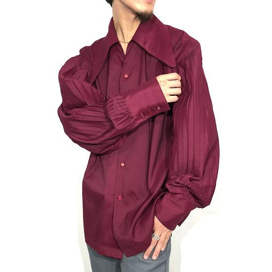 baloon sleeve design shirt / W.RED