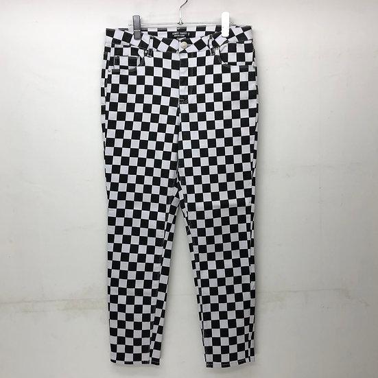 チェッカーフラッグ skinny pants / BLK WHT