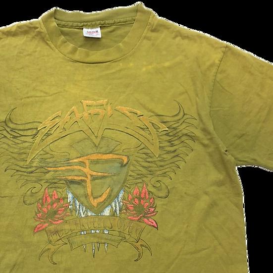 old イーグルス band T-shirt  / L.KHAKI