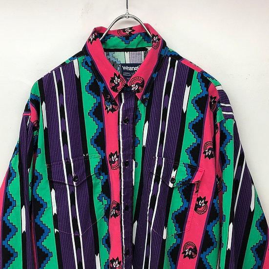 wrangler native shirt / BLK multi