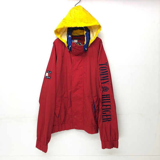old tommy hilfiger sailing nylon jacket / RED
