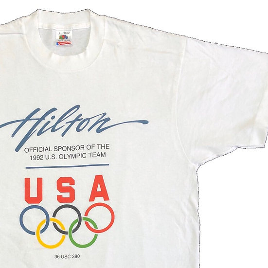 old olympic T-shirt / WHT