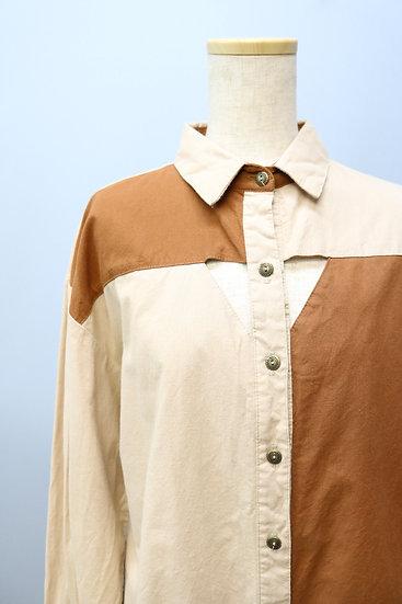asymmetry design shirt / BEI & BRN