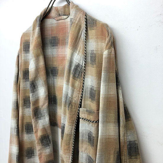 old shadow check gown / BEI