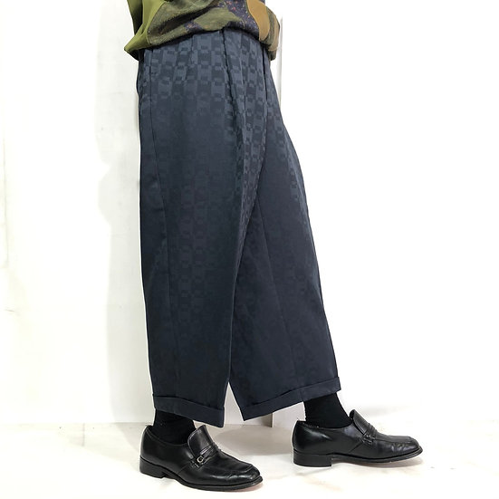 wide slacks pants / NAVY