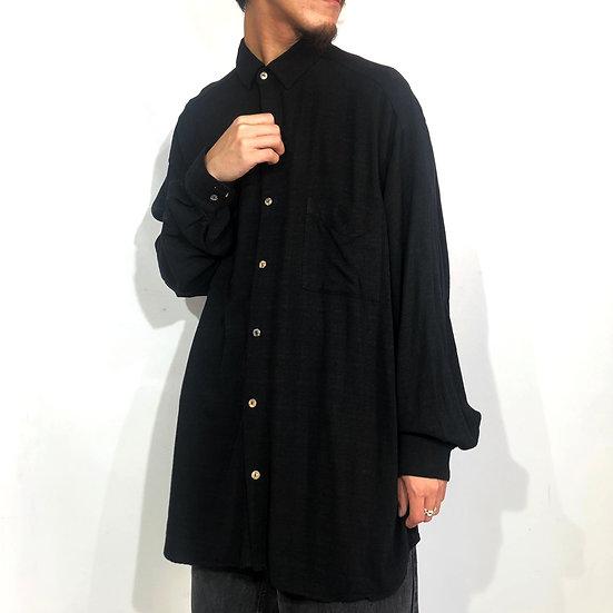 tianello plain shirt / BLK