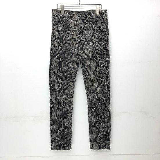 python corduroy skinny pants / GRY