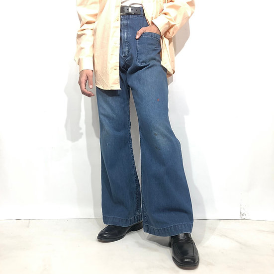 old denim flare pants / BLU