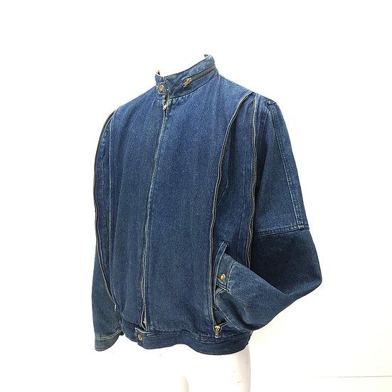 old denim design jacket / BLU