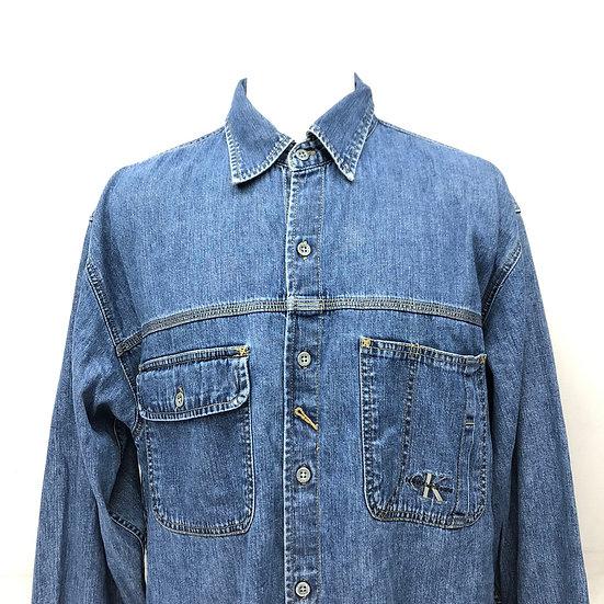 calvin klein denim shirt / BLU
