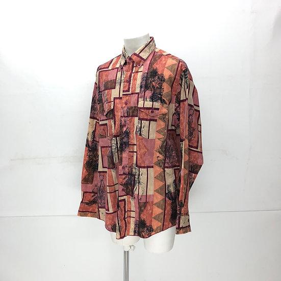 総柄 design B.D shirt / multi
