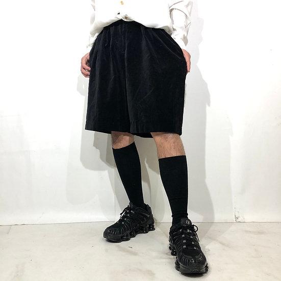 velours design short pants / BLK