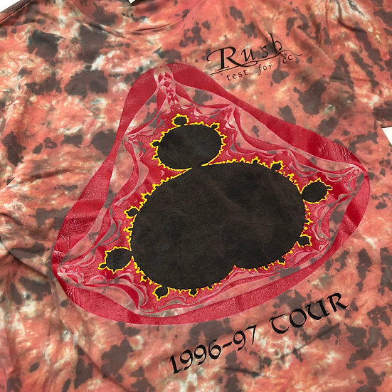 90's Rush 96-97 tour T-shirt / RED tie dye
