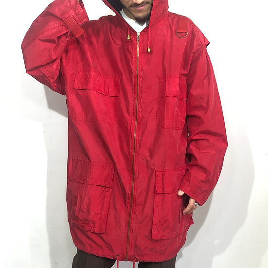 hoodie design silk jacket  /  RED