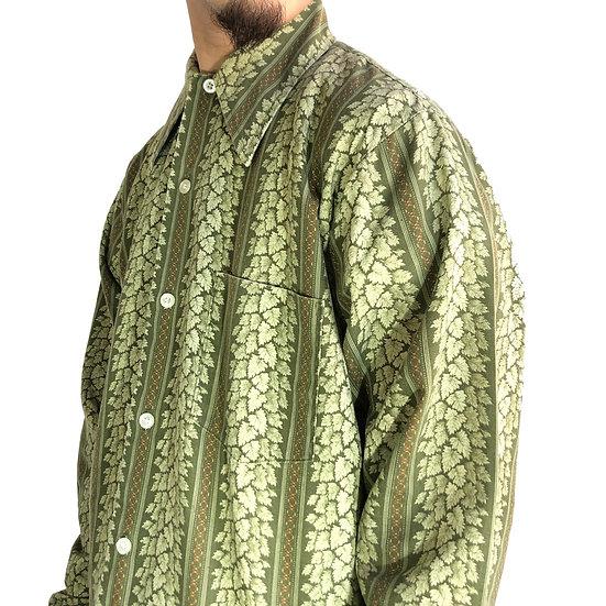 old leaf stripe shirt / KHAKI
