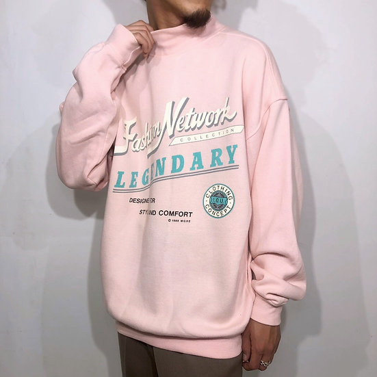 80's design sweat / pink
