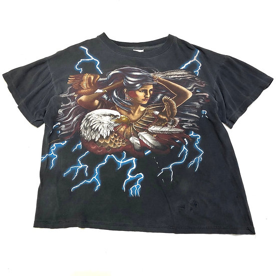 90'S アメリカンサンダー S/S T-shirt / BLK