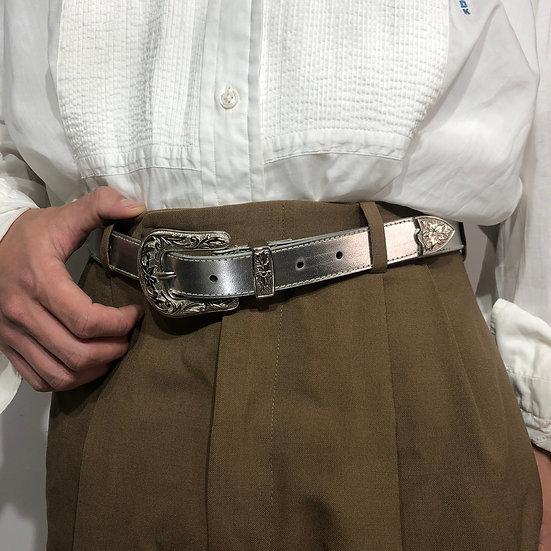 design belt / silver