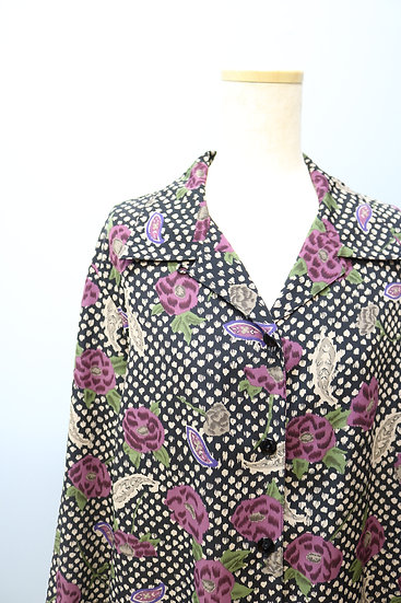 flower design blouse / flower pattern
