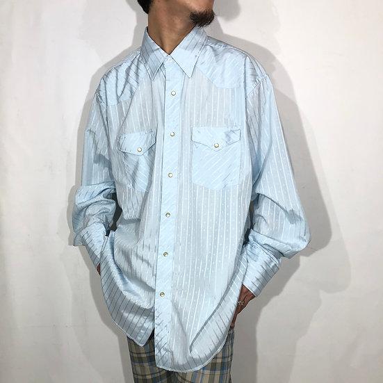 wrangler western shirt / sax blue