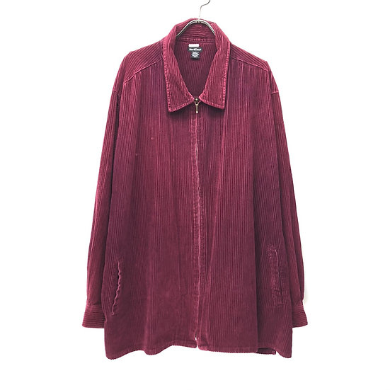 corduroy zip-up shirt jacket / W.RED