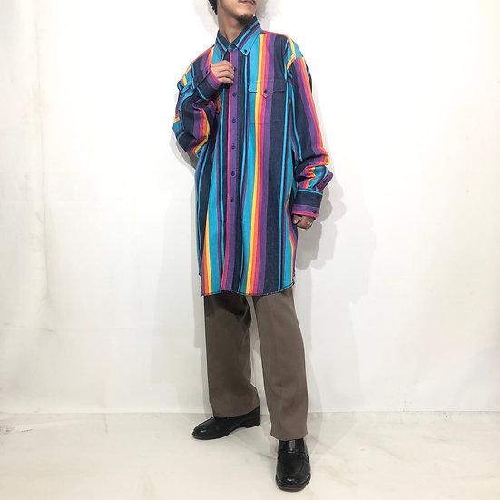 panhandle slim B.D design shirt / rainbow