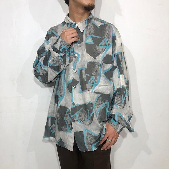 総柄 design shirt / GRY