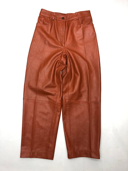 leather design pants / ORG