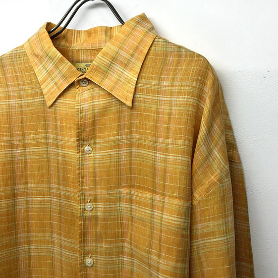linen plaid shirt / plaid