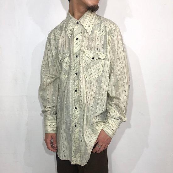 70's wrangler western shirt / ivory