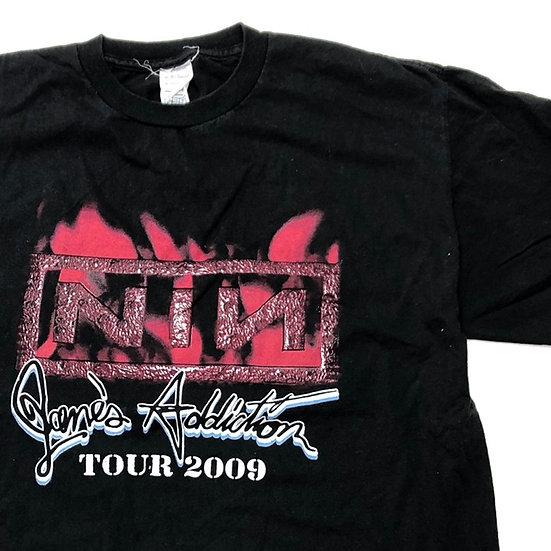 NIN × Jane's addiction band T-shirt / BLK