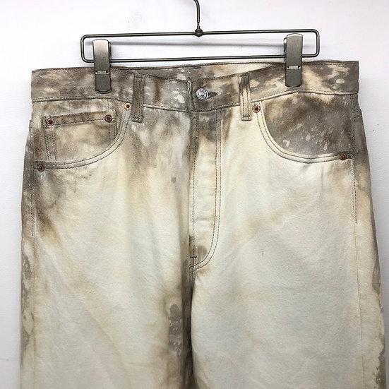 Levi's 501 bleach denim pants / グレージュ