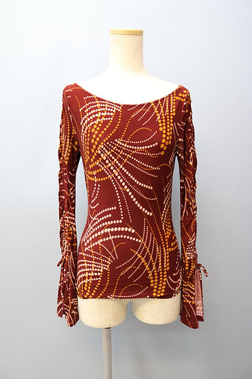 flare sleeve design tops / W.RED