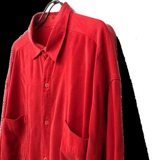 drape design shirt / RED