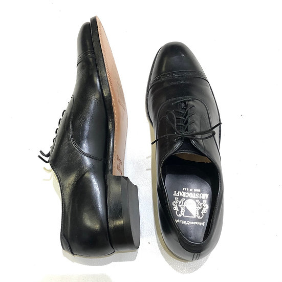 Johnston & Murphy leather shoes / BLK