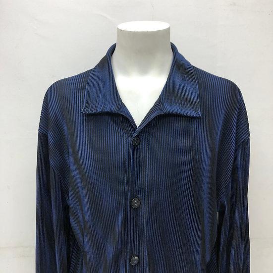 pleats shirt / NAVY