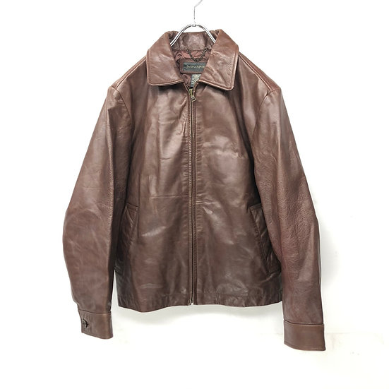 old BANANA REPUBLIC leather swing top jacket / BRN