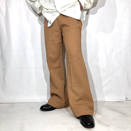 NOS old flare design easy pants / BEI