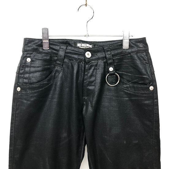 DIRK BIKKEMBERGS coating design denim pants / BLK