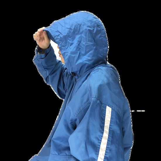 Nike nylon hoodie jacket / BLU