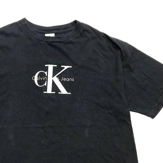 calvin klein ロゴ T-shirt / BLK