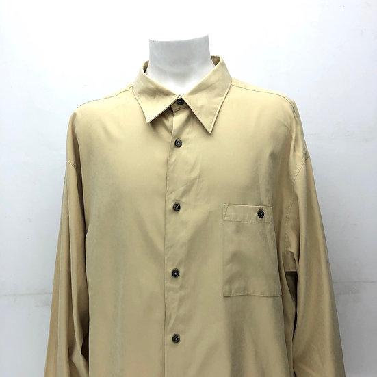 Big size plain shirt / baked yellow